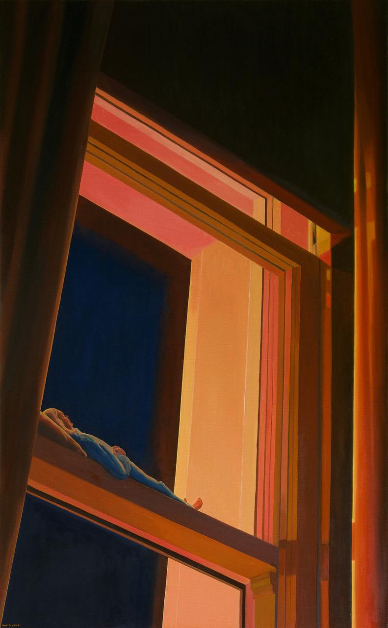 David Lake painting